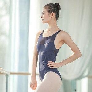 Image 5 - 2019 Strap Ballett Trikots für Frauen Sommer Mesh Erwachsene Ballett Uniformen Strappy Kreuz Zurück Trikot Gymnastik Body
