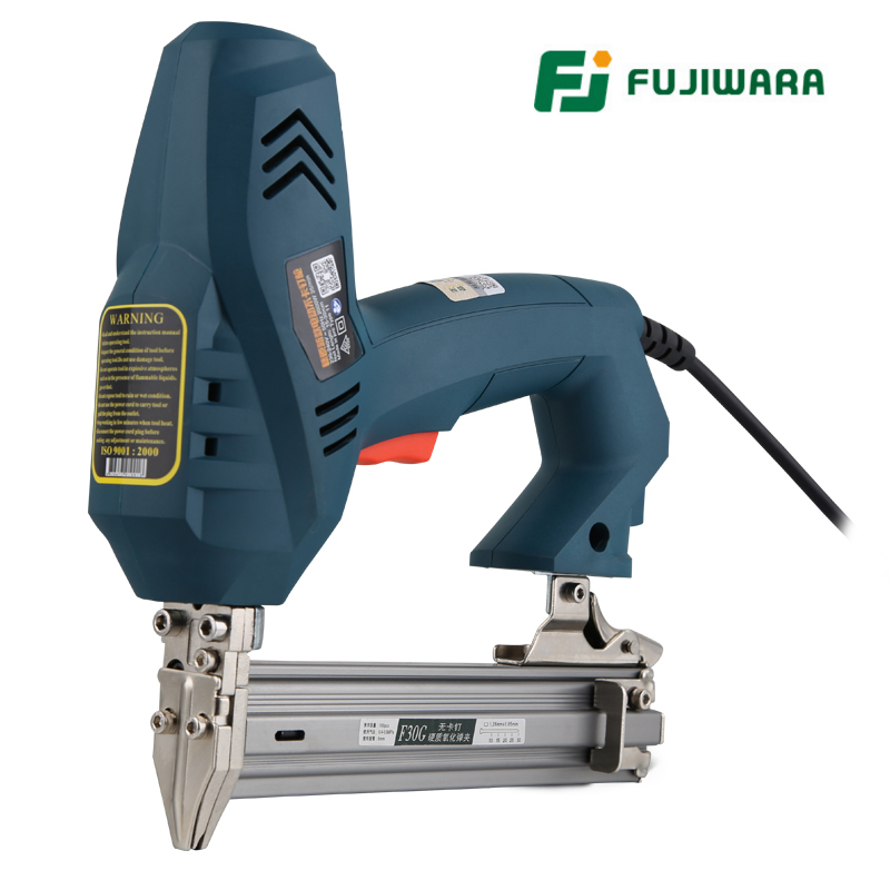 FUJIWARA Electric Nail Gun 1-use/2-use Nail Stapler F30 Straight Nail Gun Woodworking Tools Nail Ejection Device