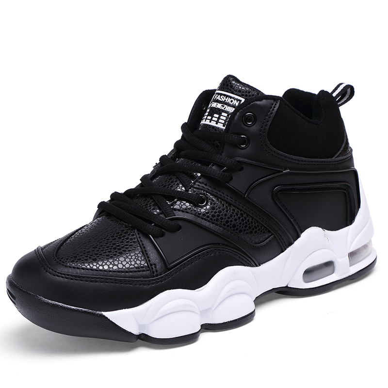 ФОТО Men Sneakers High Top Sport Shoes Men Basketball Air Breathable Brand Men Basketball Shoes Hard-Wearing Athletic Sneakers