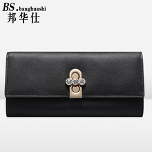 Personalized wallet high quality travel butler leather practical ladies long wallet Ladies Leather Wallet