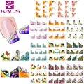 2016 Nueva B100-110 11 hoja/SET Arte Del Clavo Tip Francés Pegatinas de Uñas pegatinas de uñas Calcomanía de Uñas Manicura Flor para Las Mujeres