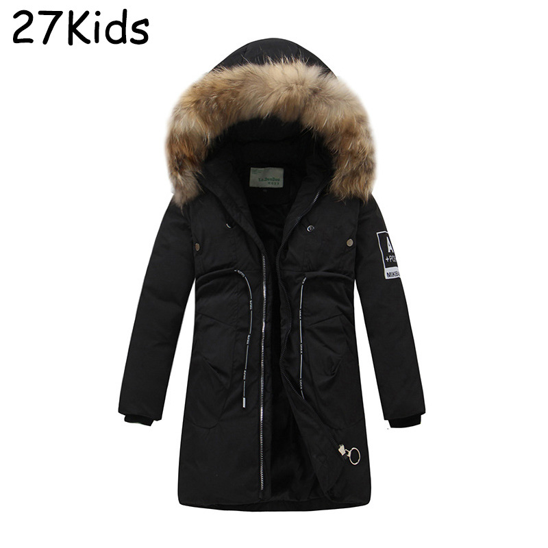 2017 New Brand Clothing Jackets Thick Keep Warm Boy Down Jacket High Quality Real Fur Collar Hooded Down Jacket Girl Winter Coat brand quality down jacket for men keep warm men s real down jacket 2015 new coat winter clothing down coat hooded jx273