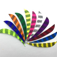 50 Pcs 3 Right Wing Drop Shape Feather Hunting Arrow Accessories With Feather Arrow And Arrow