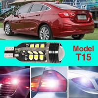 Error Free T15 Socket 360 Degrees Projector Lens LED Backup Reverse Light R5 Chips Replacement Bulb