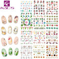KADS CZ094-105 Water Transfer Foil Nail Art Sticker Christmas Snowflake Cat & cactus & fruit design Manicure Decor Decals Nail