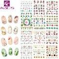 Sistema de desarrollo de CONOCIMIENTOS CZ094-105 Hoja Del Clavo Etiqueta Engomada Del Arte de Transferencia de Agua de Navidad Copo de Nieve Gato y cactus & fruit diseño Manicura Tatuajes de Decoración de Uñas