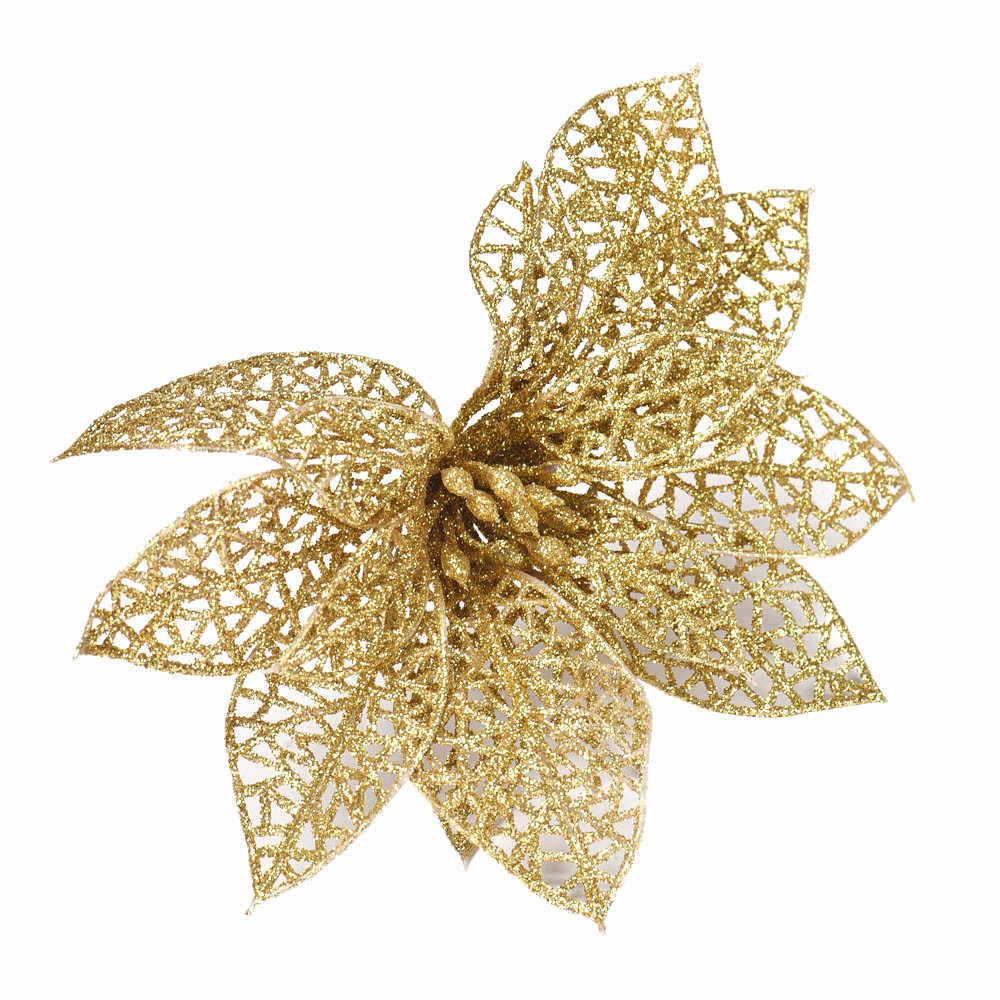الزهور الاصطناعية الذهب زينة محاكاة orchidea زهرة زينة بلانت artificielles صب la الديكور ضياء دوس