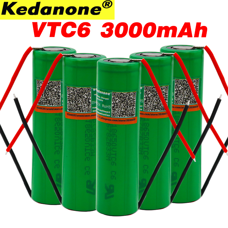 100% original New 3.7 V 3000 MAH Li ion rechargeable 18650 battery For SONY us18650 vtc6 30A 3000mah toys tools flashlight