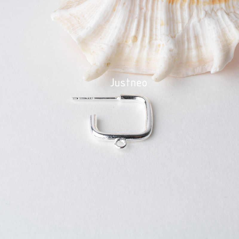 Stałe 925 Sterling Silver kolczyki ustalenia Eearwire hak z Pin dla kolczyk biżuteria, DIY srebrne półfabrykaty/komponentów,