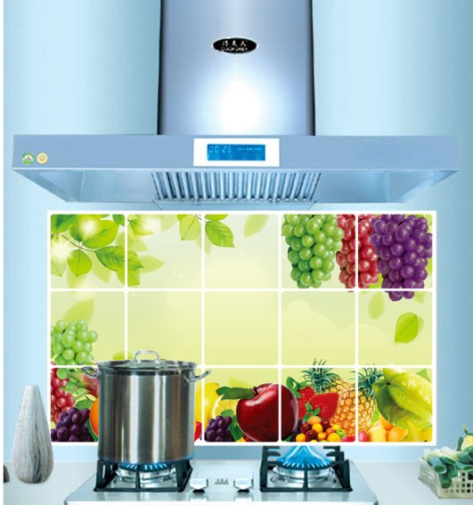 Removable Fruit Lot Design Kitchen Waterproof And Oil Proof