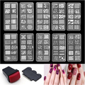 1 Set Nail Stamping Plates Lace Flower Pattern Nail Art Stamp Stamping Template Image Plate Stencil Nails Art Tool Random send