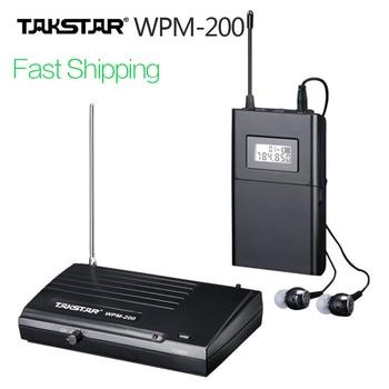 אמיתי TAKSTAR wpm-200 UHF אלחוטי מקצועי שלב באוזן סטריאו אלחוטי אוזניות משדר ומקלט