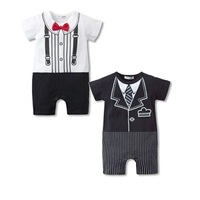 Bowties Baby Boys Rompers Tuxedo Shortalls Retail Baby Clothing Infant jumpsuit bebe clothes months newborn costume 100% Cotton