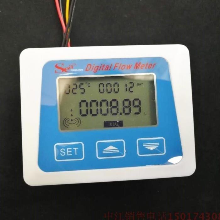 Lcd Display Digital Meter Temperatur Messung Fluss Senosr Insgesamt Liter Gal Neue Von Zj-lcd-m Modell QualitäT Und QuantitäT Gesichert Werkzeuge