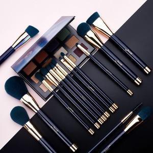 Image 2 - Jessup pincéis de maquiagem conjunto 15 pçs azul/roxo pó sombra delineador contorno fundação cosméticos pincel maquiagem dropshipping