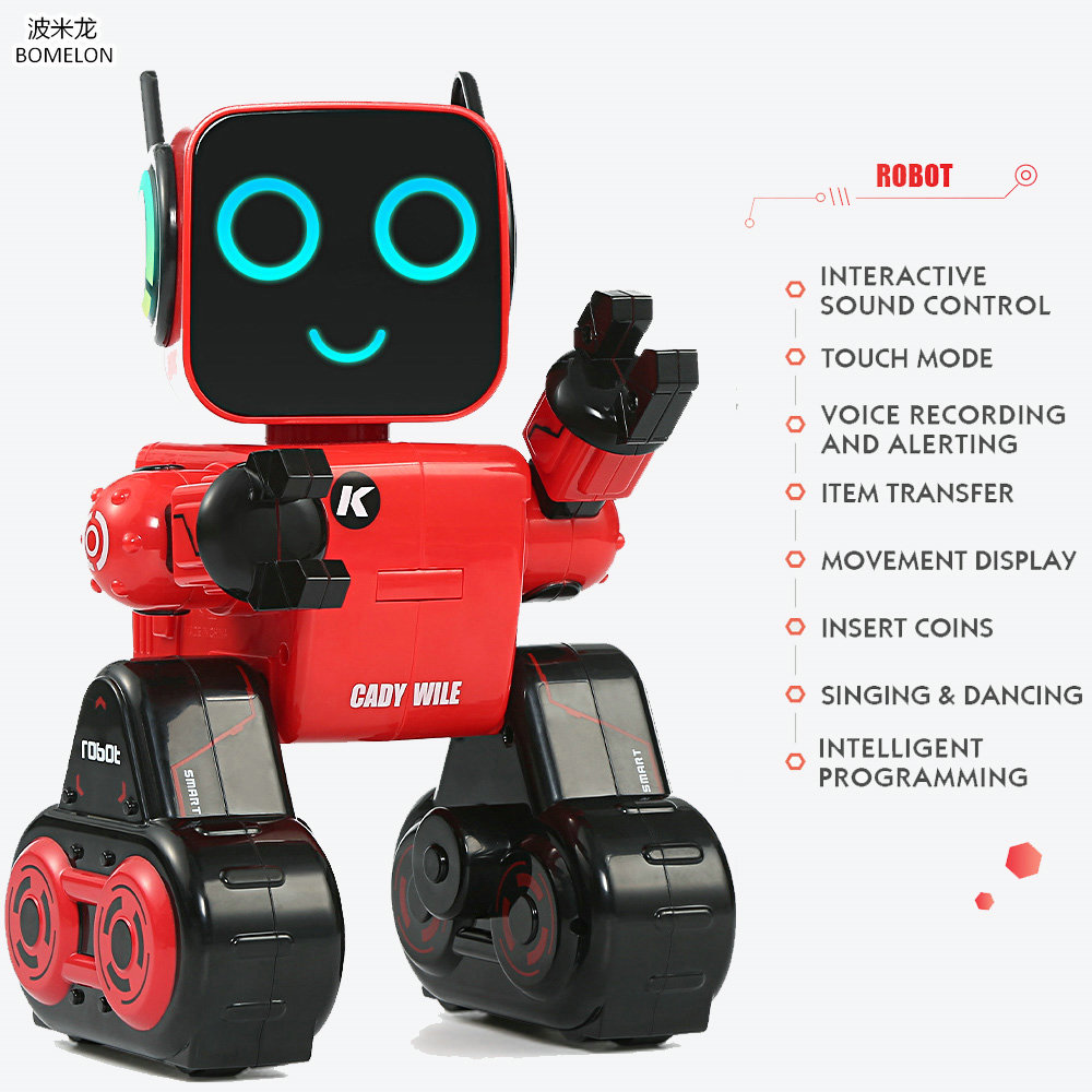 2.4G RC Robot Gesture Sensor Intelligent Programming Singing Dancing Recording Action Figures Puzzle Toy Kids Birthday Gift jjrc rc robot kids toy 2 4g intelligent programming gesture sensor singing dancing display candy action figure robots toy