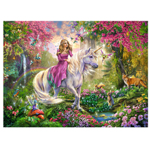 DIY diamond painting Unicorn beauty animal full embroidery girl unicorn mosaic wall decor