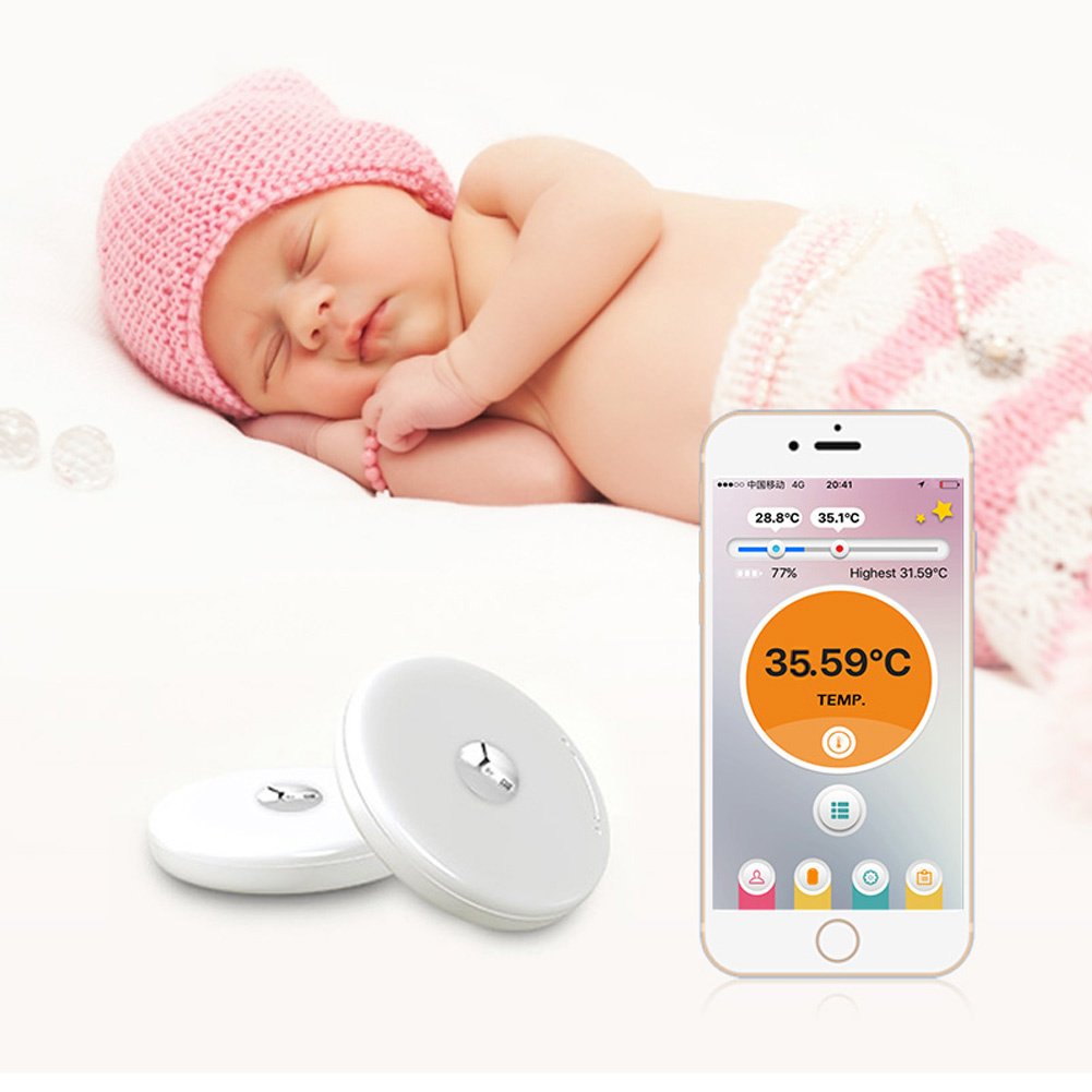 Baby Thermometer Monitor iFever Intelligent Wearable Safe Thermometer Bluetooth 4.0 Smart Baby Monitor PNLO beurer видеоняня by88 smart baby monitor