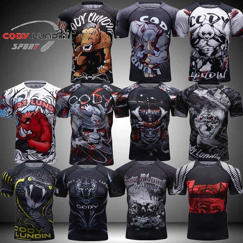 Rashguard Mma Boxing T Shirts Men BJJ Muay Thai  Mma 3D Printed Monkey Kickboxing Shirts Breathable Boxe Fighting Boxing Jerseys