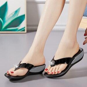 Image 3 - GKTINOO 2020 Summer Platform Flip Flops Fashion Beach Shoes Woman Anti slip Genuine Leather Sandals Women Slippers Shoe