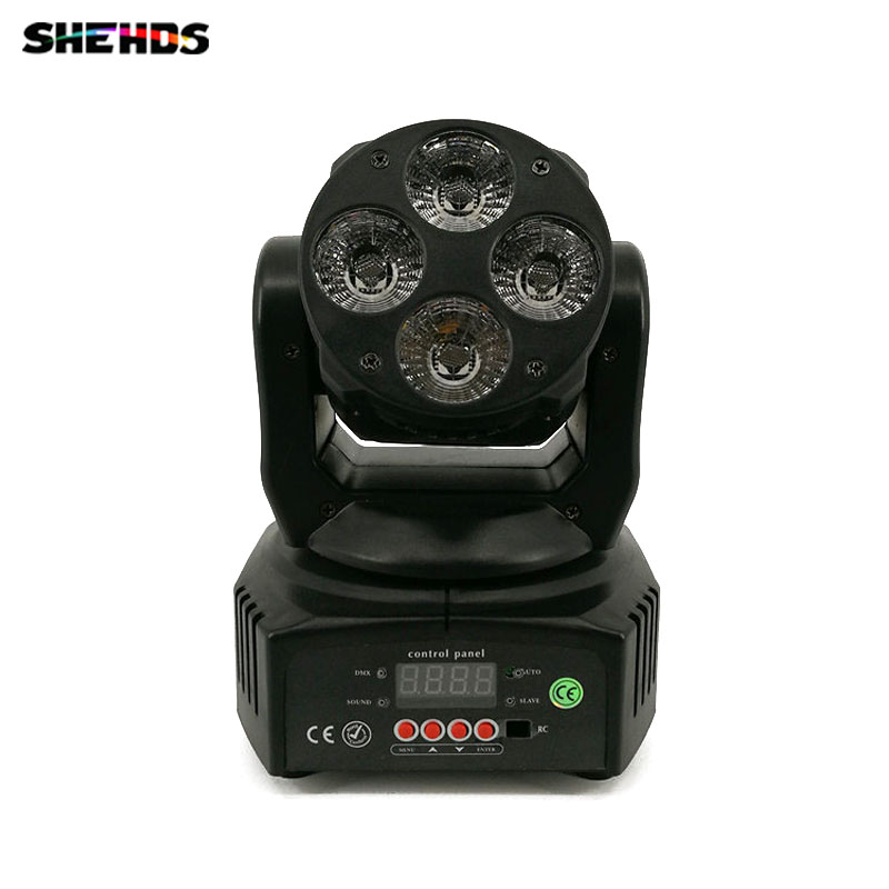 Mini LED Moving Head 4x18W RGBWA+UV 6in1 Wash LED Stage Lighting Perfect for DJ/Disco/Events Moving Head LightingMini LED Moving Head 4x18W RGBWA+UV 6in1 Wash LED Stage Lighting Perfect for DJ/Disco/Events Moving Head Lighting
