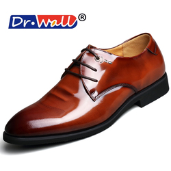 2017 sale new arrival size pointed flats men wedding formal dress shoes luxury brand lace up.jpg 250x250