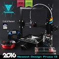 2016 Mais Novo Tarantula TEVO Extrusão De Alumínio I3 Impressora 3D impressora de kit 3d impressão 2 Rolls Filament 8 GB LCD cartão SD Como O Presente