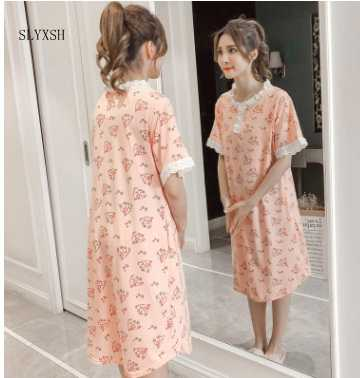 6102737163e BreastFeeding Summer Dress Nightdress For Pregnant Women Go Out Lace Nursing  Sleepwear Maternity Pajamas Clothes Nightgown