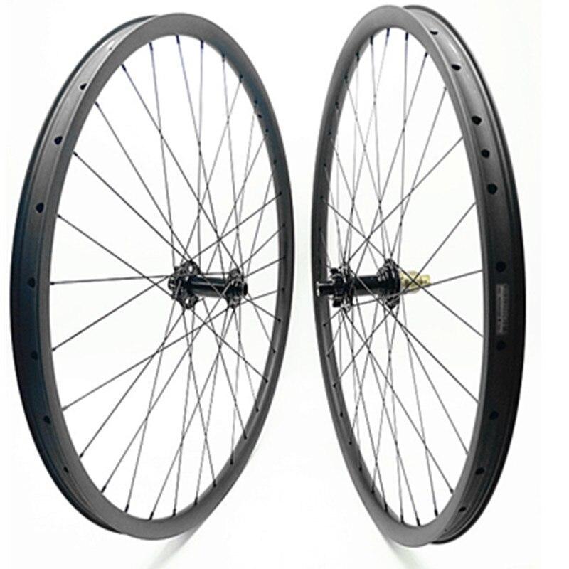 Fibra de carbono 29er mountain bike conjunto roda bitex R211 impulso 110 x mm 148x12 15mm conjunto de roda 30mm 1370g tubeless mtb rodas de carbono