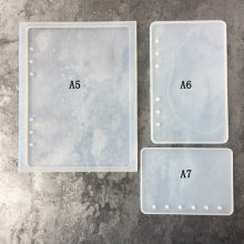 A7/A6/A5 Notebook Shape Silicone Mold DIY Resin Book Mold Crystal Epoxy Silicome Mold Transparent Book A7 Silicone Mold(China)