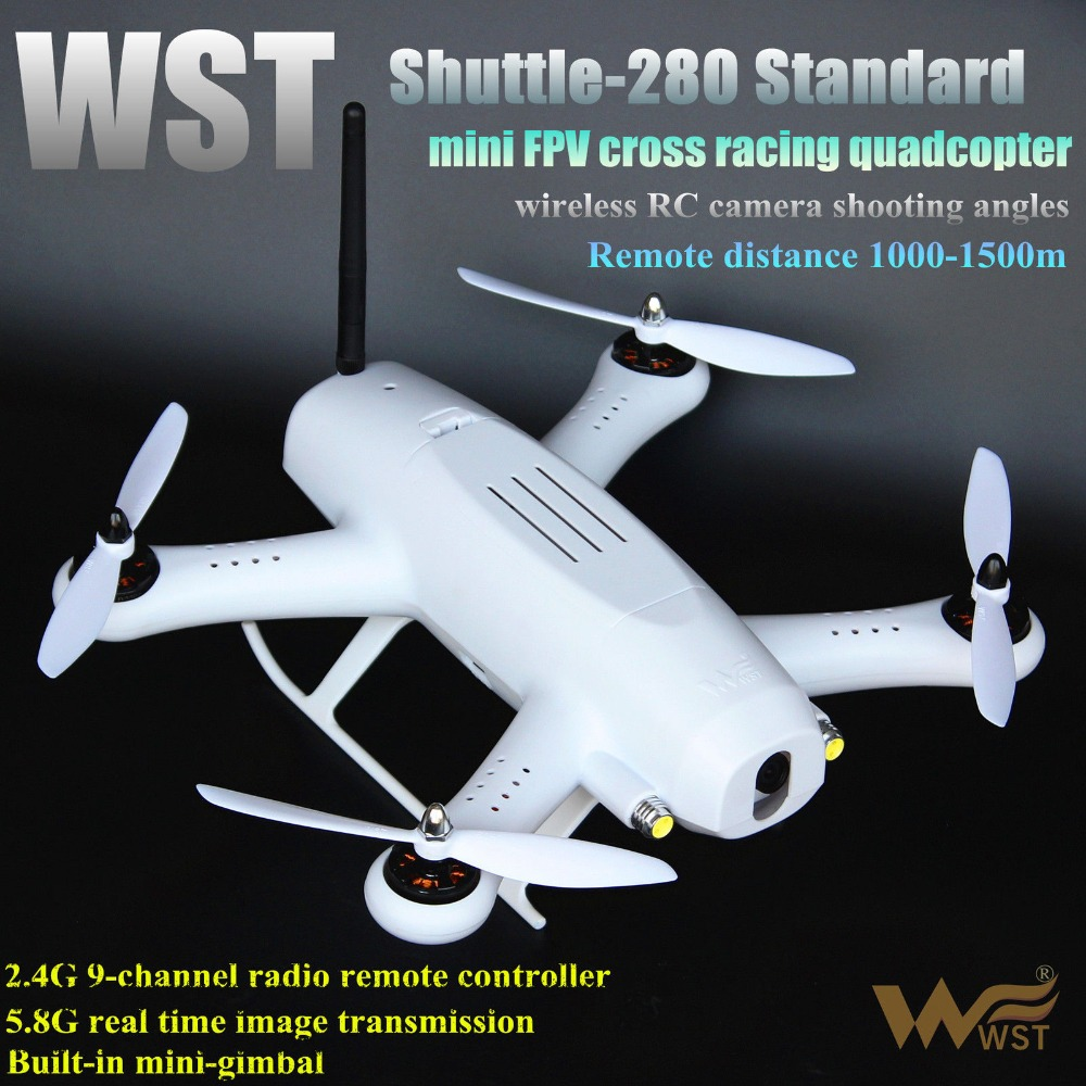F16250 WST Shuttle's 280 Drone with Camera FPV 5 Inch Monitor Race Crossing the Machine DIY Remote Control Aircraft 4-axle Drone