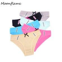 Moonflme 5 pcs/lots Hot Sale 2019 Underwear Cotton Lace Women Briefs 89239