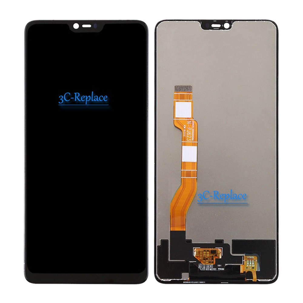 100% Tested 6.23 inch Black For Oppo F7 / For Oppo A3 Full LCD ...