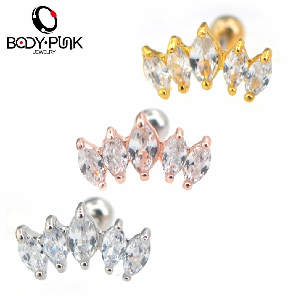Body Punk Helix Piercing Earring Girl Conch Piercing Ear Rings 2018 New Arrival 16 g Sta ...