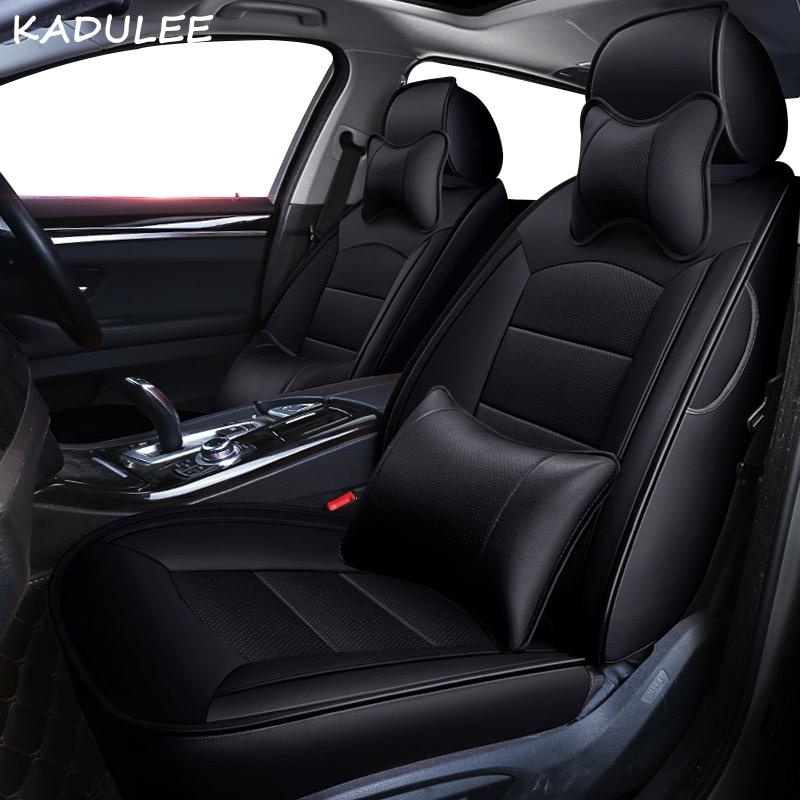 KADULEE personnalisé en cuir véritable housse de siège de voiture pour mercedes benz gl c180 c200 e300 w211 w203 w204 ML coussin de voiture sièges de voiture style - 3