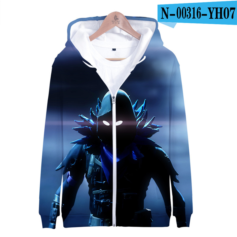 Fortniter Battle Royale Hoodie Causal Sweatshirt Zip Up Kid Clothings 3D Print Women Clothes Men Children Clothing Fortnight