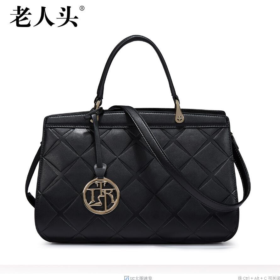 Famous brand top quality dermis women bag  New Simple Shoulder Messenger Bag Stylish wild Lingge handbag Casual killer bag