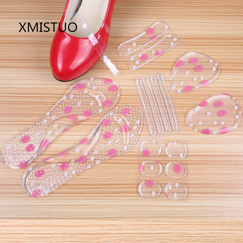XMISTUO High-heeled shoes 6 kinds of pre-set palm pad, followed by paste, massage insoles, fine paste, shoe strap, casual paste