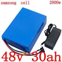 48V 30ah Lithium batterij 48V 30AH elektrische fiets batterij 48V 1000W 2000W ebike batterij gebruik samsung mobiele met 50A BMS + 5A charger
