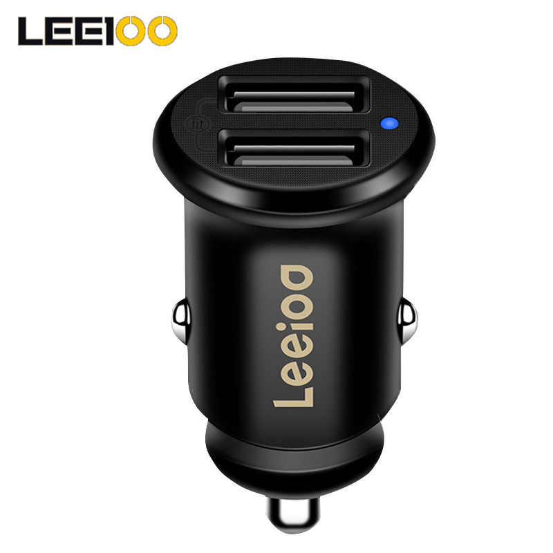 Leeioo Dual Usb Car Charger 4.8A Car Cigarette Lighter Universal USB Car-Charger with Blue Led Light For iphone Sumsung Xiaomi