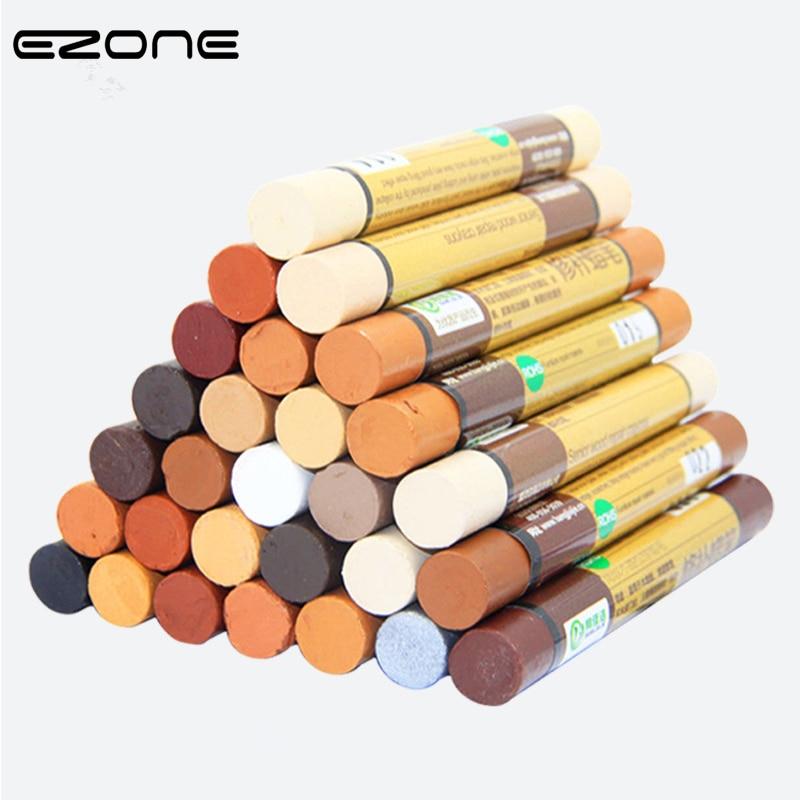 цена на EZONE Urniture Paint Floor Repair Floor Wax Crayon Scratch Patch Paint Pen Wood Composite Repair Materials School Office Supply