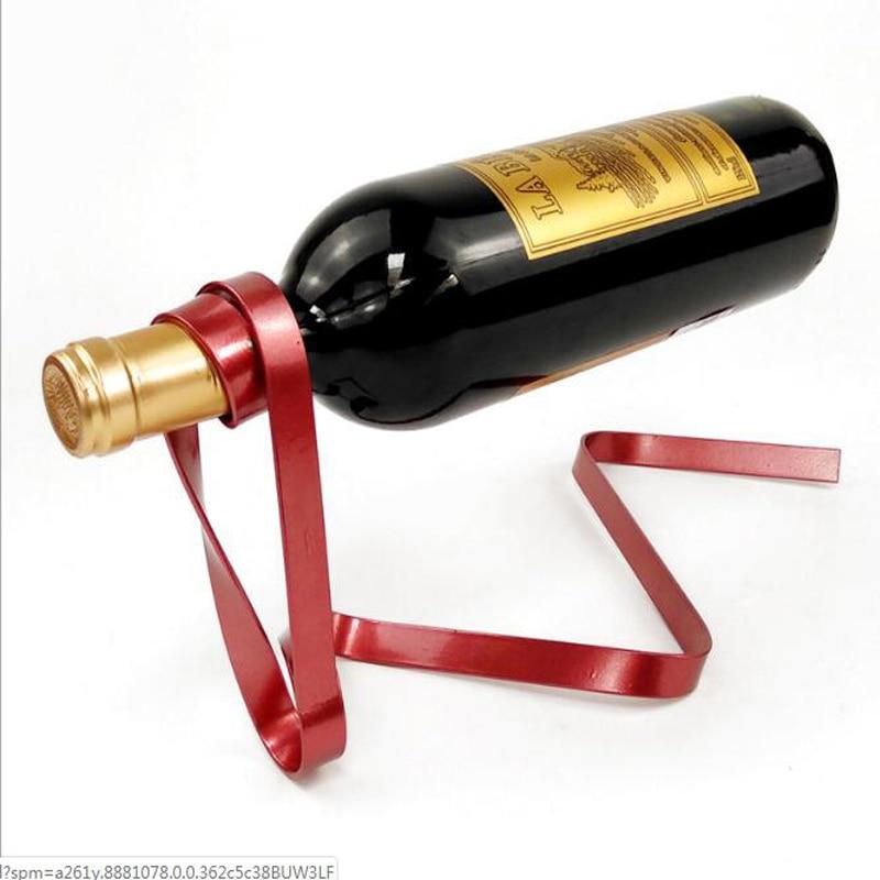 Magic შეჩერებული ლენტი ღვინის თაროს შეჩერების ღვინის სტენდი სიახლე რკინის თაროს ბოთლის მფლობელი სტენდი ბარი საქორწილო ვისკი ქვის აბრეშუმის თოკი
