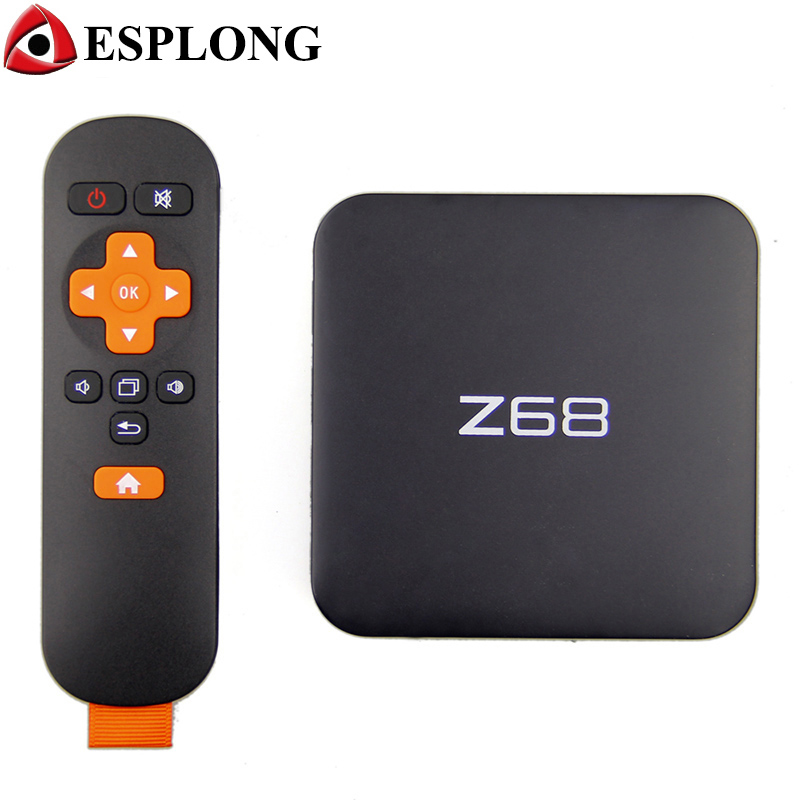 Prix pour Nouveau Z68 Android 5.1 TV Box 2 GB 16 GB WiFi Gigabit LAN UHD 4 K * 2 K RK3368 Octa-Core 64 Bits Mini PC Kodi/DLNA Smart Media Player