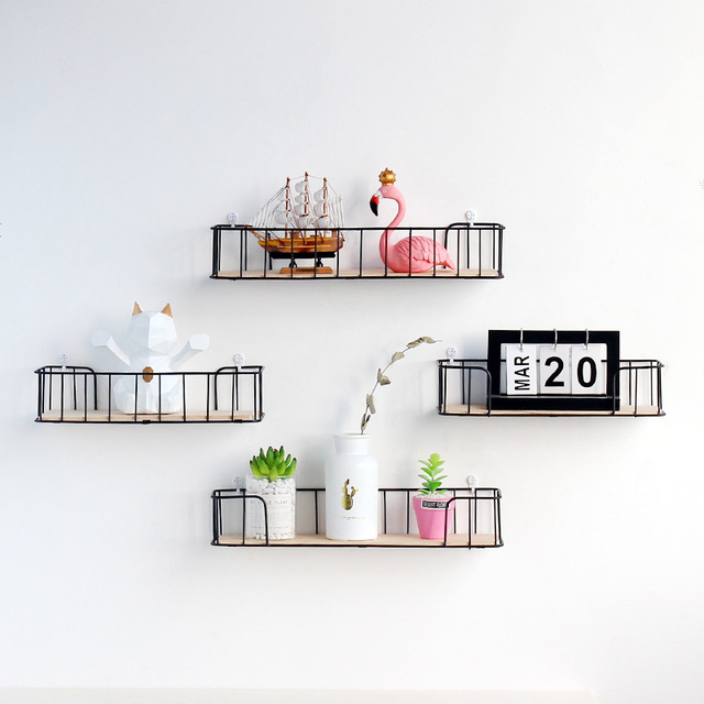 New Nordic Style Scandinavian Metal Wall Shelf Nordic Wall Decor Shelf Kids Room Decoration Organizer Storage Holders