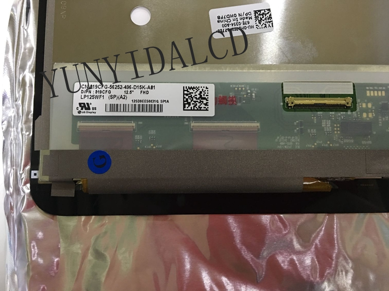 Original 12.5 inch For dell xps12 Dell XPS 12 9Q23 LCD Screen LP125WF1 SPA2 LCD Assembly 1920*1080 Touch+Screen