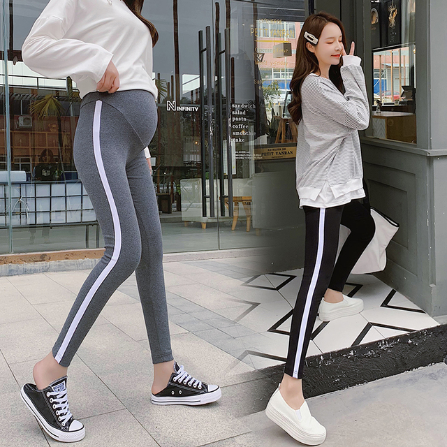 4c7d2cd3d2ad4 068# 2019 Spring Casual Maternity Legging Elastic Waist Belly Sports Legging  Clothes for Pregnant Women Pregnancy Pencil Pants