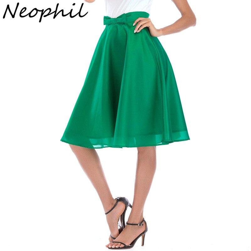 Straightforward Neophi Bow High Waist Women Mesh Midi Skirts 2019 Summer A Line Pleated Ball Gown Black Swing Girls Jupe Femme Tulle Skirt S8424 Bottoms