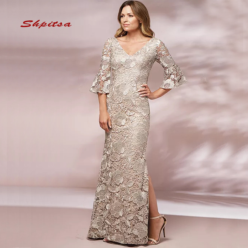 BEST DEAL) Champagne Lace Mother Of The Bride Dresses For ...