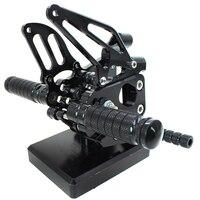 Двигатель ЧПУ алюминий двигатель цикл Регулируемые Rearsets Сзади наборы для ухода за S кожей подножки DUCATI 1199 S/R 2012 2013 2014
