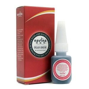 Image 2 - 10 pièces/lot Navina 10g professionnel maquillage cils macromolécule colle adhésive pour faux yeux cils Extension beauté colle noire